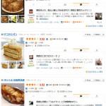 「食べログ」による日吉の飲食店ベスト20(2015年7月25日現在、日吉駅から1km圏内にある256店から評価得点の高い順に掲載)※クリックすると新しい画面で見ることができます。