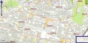 日吉本町4丁目の全体図(クリックすると拡大)(港北区生活マップより)