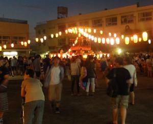 写真は7月前半に日吉で行われた「盆踊り」の様子