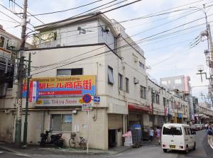 綱島駅の高架下(1階部分)と西口側に建物がある「駅ビル商店街」