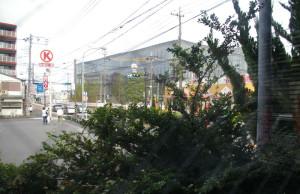 会場となった部屋からの綱島SSTの眺望はばっちり!