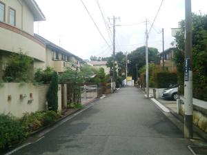 神奈川で2番目に住宅地価が高かった日吉本町1丁目の32番地付近