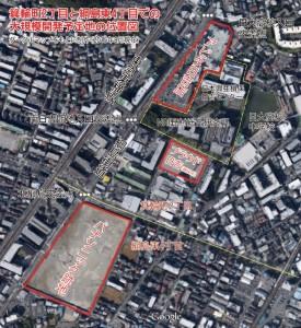 パナソニック跡地とアピタ日吉店の位置図