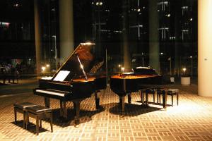 来往舎の中心を成す「吹き抜け」構造が、ピアノの残響の長さを保つ役割となり、ピアノ演奏に適した建物であることを認識させられる