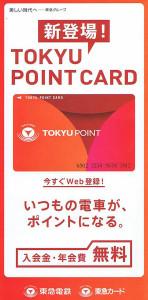この細長いパンフレットの中にカードが貼り付けられている