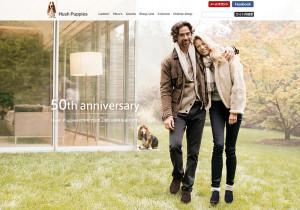 「Hush Puppies(ハッシュパピー)」の50周年記念モデルを紹介する特設ページ