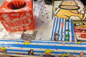 明治商品お買い上げ300円(税込)ごとに抽選くじを1回引けます