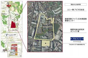 野村不動産が発表した周辺の位置図