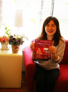 ウーマンネットアカデミー&コンサルティング代表の丸山恵子さん。「大倉山周辺は緑や公園も多く、子育てがしやすい環境でとても気に入っています。女性起業家も多い環境です。ぜひいままで足を踏み出せなかった多くの皆さんに参加していただけたら」と熱く想いを語ってくれました