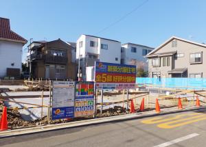 「ブルーミングガーデン川崎市幸区南加瀬4丁目」は来年3月の完成を予定する