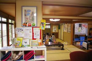 「TOEICタイム」は和室の部屋で実施。アットホームな雰囲気の中、寛ぎながらの英語勉強会を目指している