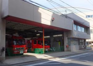 綱島駅近くの「綱島消防出張所」には救急車は配備されていない