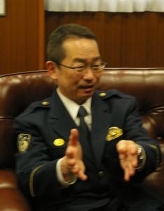 陶山署長は「犯人の手口はとても巧妙です。だまされないで」と、オレオレ詐欺ほか最近起こる特殊詐欺に対する注意を呼び掛けている