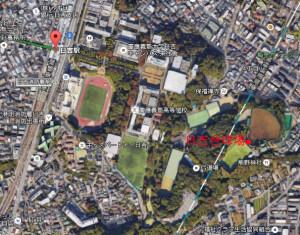 日吉台野球場は日吉駅から少し距離がある
