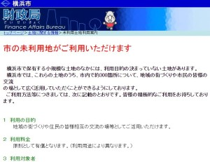 横浜市が持つ未利用地は市内に300箇所あり、日吉の街には5箇所あります