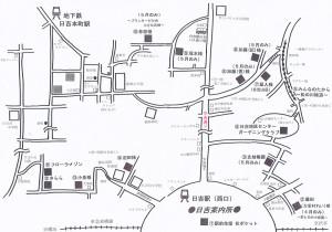 日吉駅で配布予定のガイドマップ。地図を片手に各会場を目指すことができる港北オープンガーデンは花スポットや近所を知ることができる、気軽なお散歩としても楽しめる親しみやすいイベントとして毎年見学者が増加している(港北オープンガーデン運営委員会提供)