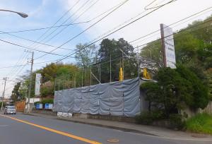 2016年4月6日時点で建物が見えなくなっていた