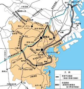 横浜市が考える鉄道計画一覧、現時点ではブルーラインの「あざみ野~新百合ヶ丘」間が優先度が高いとされている