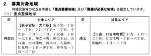 2017年4月に向けた横浜市における認可保育園の重点整備地域(2016年4月現在)