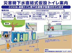 横浜市が整備を進める「災害時下水直結式仮設トイレ」(通称「ハマッコトイレ」)の仕組み