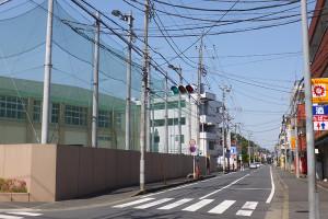 日大高校の周辺はバスの通り道にもなっている
