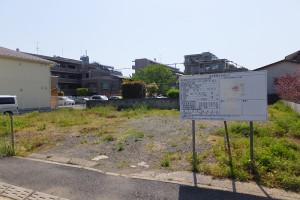 日吉6丁目の5戸分譲計画地の様子(2016年5月5日)