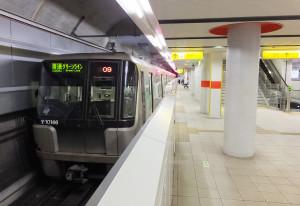 地下鉄グリーンラインの日吉駅