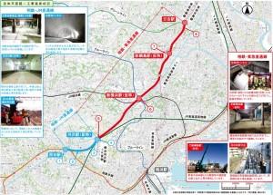 日吉~新綱島~新横浜~羽沢~西谷間の約13キロにわたる5駅の沿線の工事状況を毎号掲載