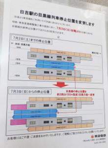 日吉駅に貼られている案内図。東横線の移動までは目黒線との乗り換えが若干しづらくなる
