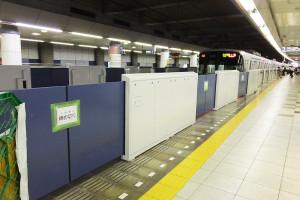 7月3日(日)から日吉駅を発着する目黒線の列車は60メートル(約3両分)ほど渋谷寄りにずれることになる