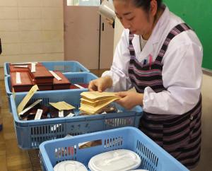 地元の著名仕出し店の弁当類は当日の朝でも注文が可能
