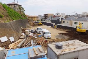 現地では造成工事が進んでいる(7月19日)