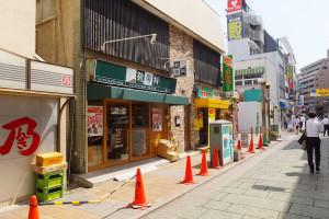 7月19日時点で西口商店街に店舗が出来上がっていました