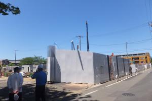 2016年5月12日の工事現場の様子、手前が商店街に近い側