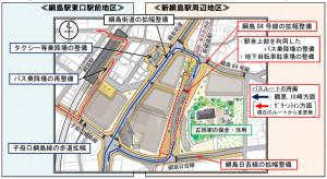 2015年7月に横浜市が発表した資料によると、新綱島駅の周辺(地上部)には複数のビルが建てられる構想であることがわかる
