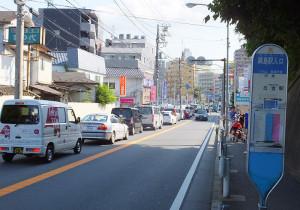 日吉方面車線の「綱島駅入口」バス停付近から大綱橋手前までの区間で拡幅工事を行う計画だという