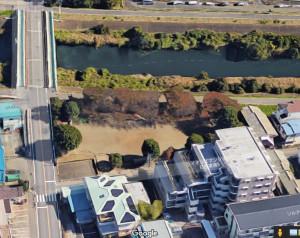 グーグルマップで見た「鏡ヶ淵公園」、一本橋の横浜市側すぐにある
