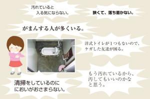 かつての公立小中学校におけるトイレのイメージ(文部科学省「学校トイレ改善の取組事例集」より)