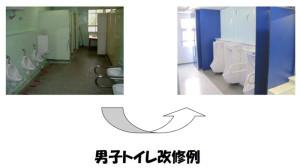 改修で見違えるようなトイレに(文科省に提出された川崎市教育委員会の資料より)