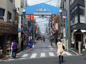 日吉駅前の「浜銀(バス)通り」