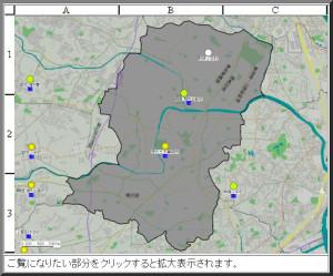 港北区内には日吉・綱島・大倉山の3カ所に震度計が設置されており、地震発生時は数値が公開される(横浜市のページより)