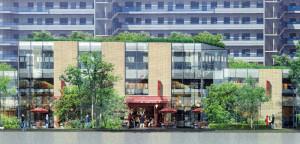 綱島街道側から商業施設部分(第31回 横浜市都市美対策審議会景観審査部会の資料より)