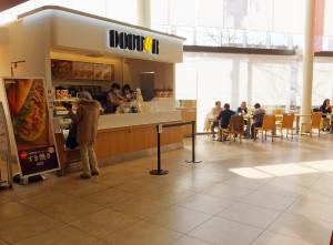 2012年に完成した新病棟では1階にドトールコーヒーも設けられている