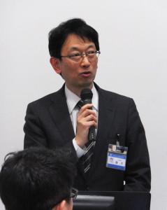 横浜市港北区役所からは地域振興課の橡木(とちぎ)誠司課長が「港北AAA(トリプルエー)」の取り組みについて紹介。防犯メールは警察からの情報提供を基に配信しているとのこと