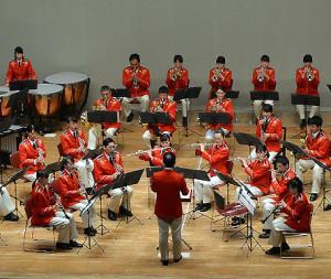 当日は横浜市消防音楽隊による演奏も