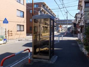 今回廃止されたうちの1つは新幹線高架橋の近くにある電話ボックス