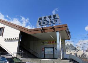 """シャトルバスが発着するのは御殿場駅の""""裏口""""の「箱根乙女口」となります"""
