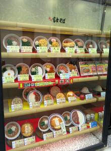 そば類だけでなく、丼もののメニューも多い富士そば綱島店