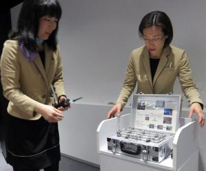 ガス漏れならぬ「水素漏れ」を感知する機器の実演が行われることも