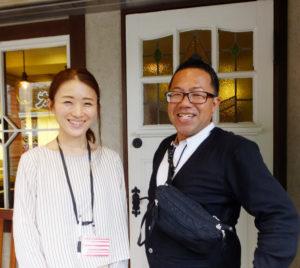 日吉での開業を決めたのは2つの偶然が重なったためとACTグループ代表の内田さん(右)。日吉で18年間苦楽を共にしてきた美容室ACT店長でディレクターの布さん(左)と